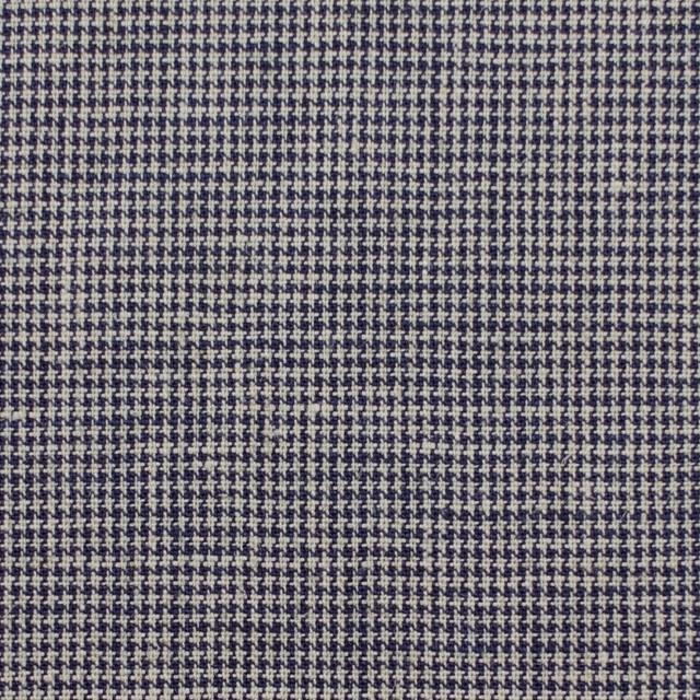 リネン&コットン×チェック(ネイビー)×千鳥格子_全2色 イメージ1
