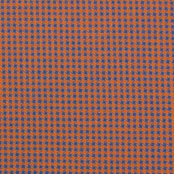 コットン×ウインドミル(コーラルオレンジ&スカイブルー)×かわり織_全5色