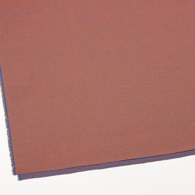 コットン×ウインドミル(コーラルオレンジ&スカイブルー)×かわり織_全5色 イメージ2