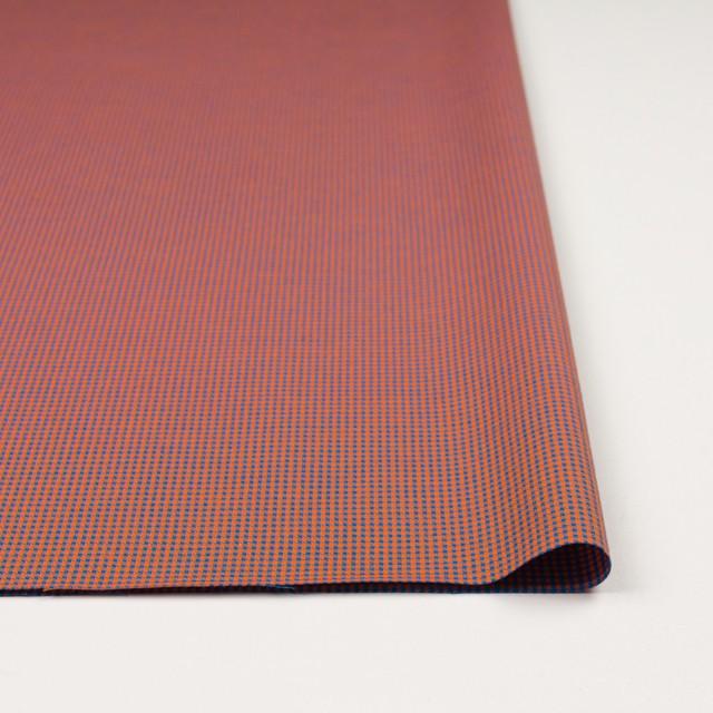 コットン×ウインドミル(コーラルオレンジ&スカイブルー)×かわり織_全5色 イメージ3