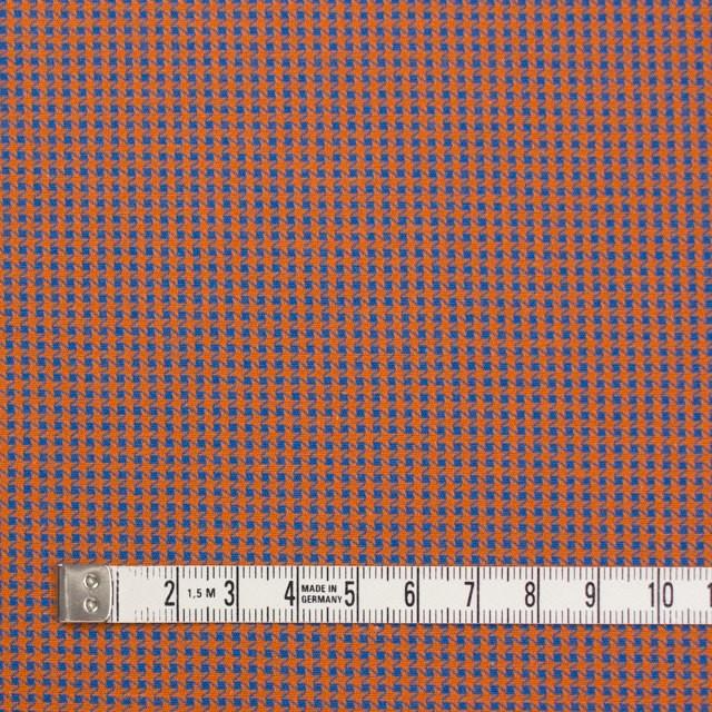 コットン×ウインドミル(コーラルオレンジ&スカイブルー)×かわり織_全5色 イメージ4