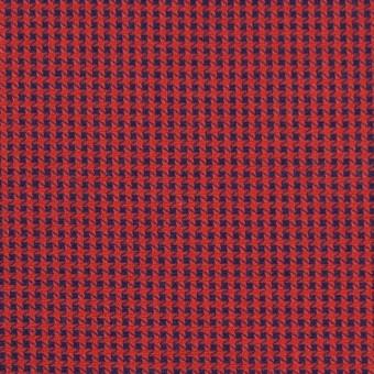 コットン×ウインドミル(レッド&ネイビー)×かわり織_全5色