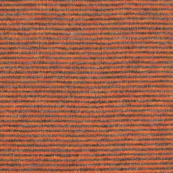 コットン×ボーダー(オレンジ&グレー)×接結天竺ニット