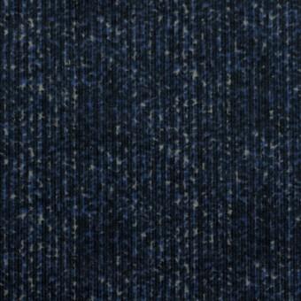 コットン&ポリエステル混×ミックス(ミッドナイトブルー)×コーデュロイ・ストレッチ