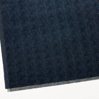 コットン&ポリエステル混×ミックス(ミッドナイトブルー)×コーデュロイ・ストレッチ サムネイル2