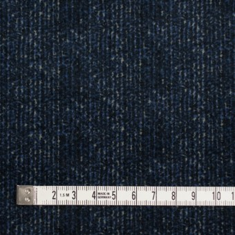 コットン&ポリエステル混×ミックス(ミッドナイトブルー)×コーデュロイ・ストレッチ サムネイル4