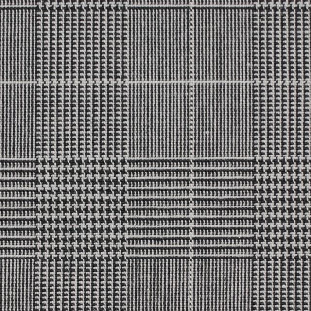 コットン&ポリウレタン×チェック(ライトグレー&ブラック)×かわり織ストレッチ イメージ1