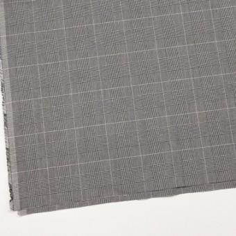 コットン&ポリウレタン×チェック(ライトグレー&ブラック)×かわり織ストレッチ サムネイル2