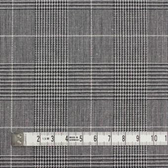 コットン&ポリウレタン×チェック(ライトグレー&ブラック)×かわり織ストレッチ サムネイル4