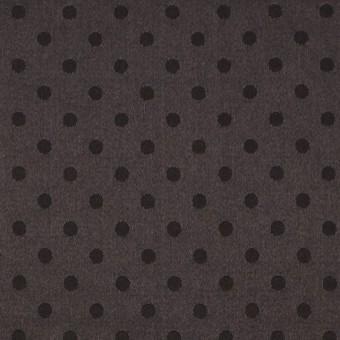 シルク&コットン×ドット(ビターチョコレート)×サテンジャガード_全3色 サムネイル1
