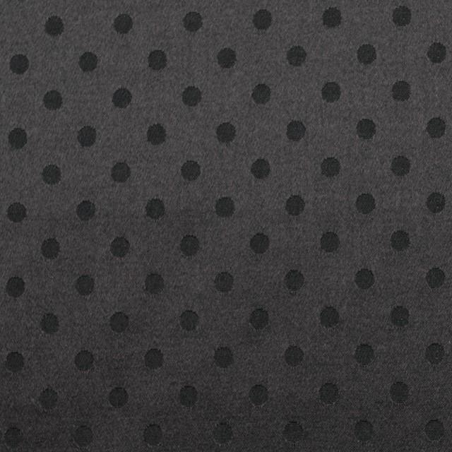 シルク&コットン×ドット(ブラック)×サテンジャガード_全3色 イメージ1