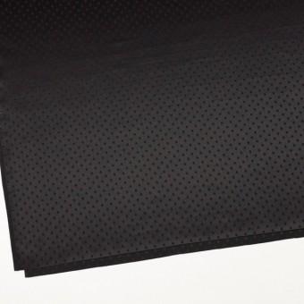 シルク&コットン×ドット(ブラック)×サテンジャガード_全3色 サムネイル2