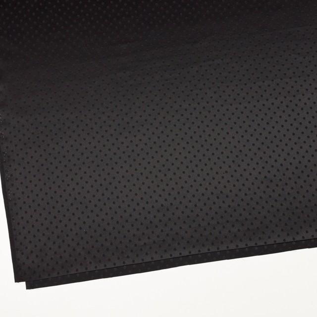 シルク&コットン×ドット(ブラック)×サテンジャガード_全3色 イメージ2