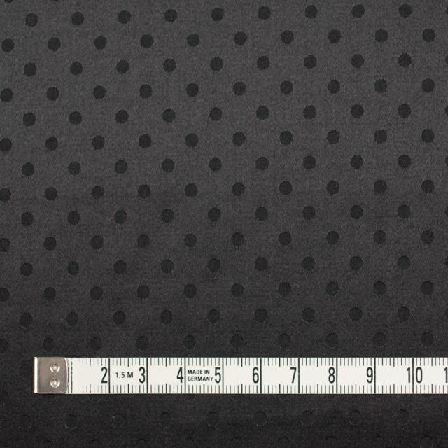 シルク&コットン×ドット(ブラック)×サテンジャガード_全3色 イメージ4