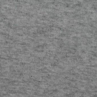 コットン&カシミア×無地(グレー)×フライスニット