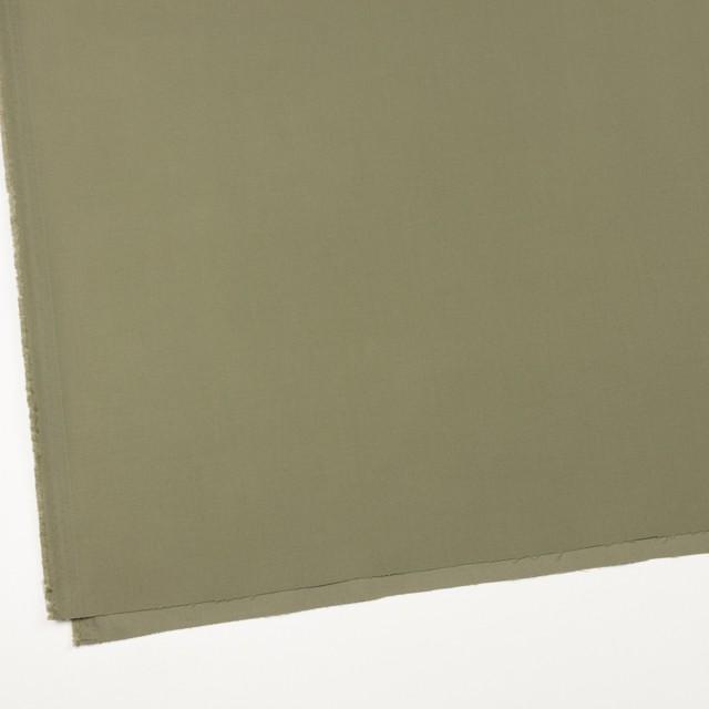 コットン×無地(カーキグリーン)×サテン_全8色 イメージ2