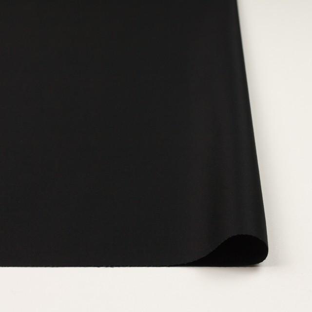 コットン×無地(ブラック)×サテン_全8色 イメージ3