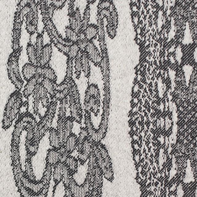 コットン&ポリウレタン×レース(アイボリー&ブラック)×サテンストレッチ イメージ1