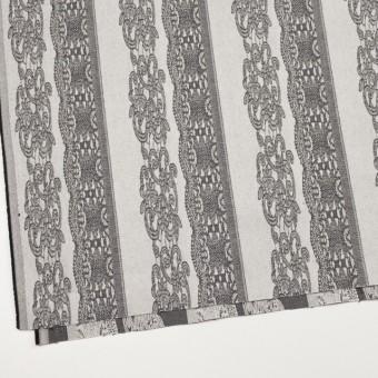 コットン&ポリウレタン×レース(アイボリー&ブラック)×サテンストレッチ サムネイル2