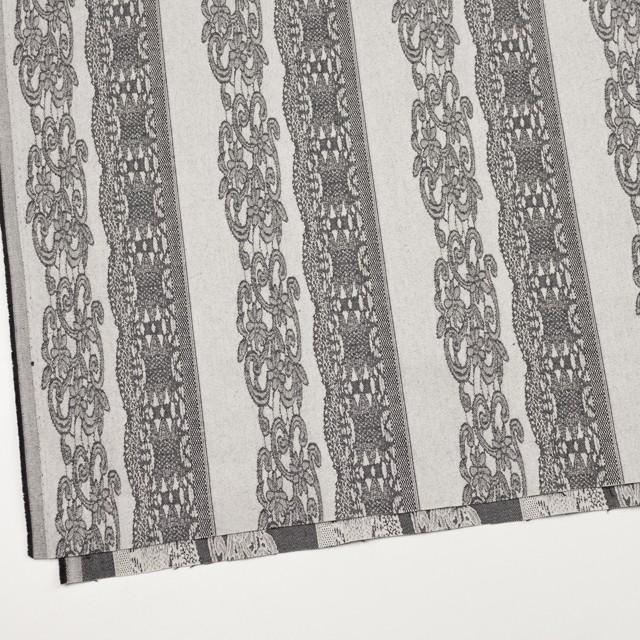 コットン&ポリウレタン×レース(アイボリー&ブラック)×サテンストレッチ イメージ2