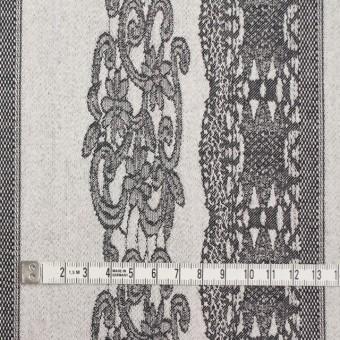 コットン&ポリウレタン×レース(アイボリー&ブラック)×サテンストレッチ サムネイル4