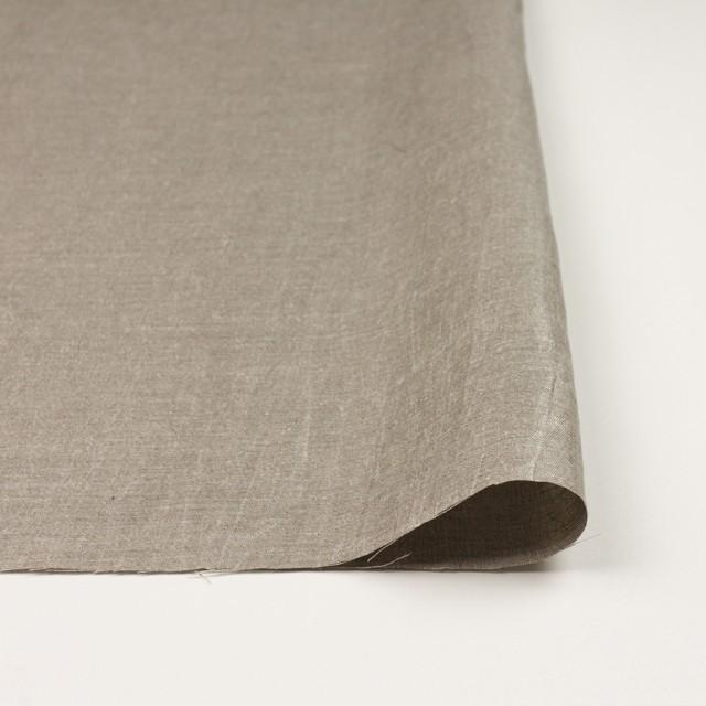 リネン&キュプラ×無地(メタル)×かわり織ワッシャー(ラメ箔プリント) イメージ3