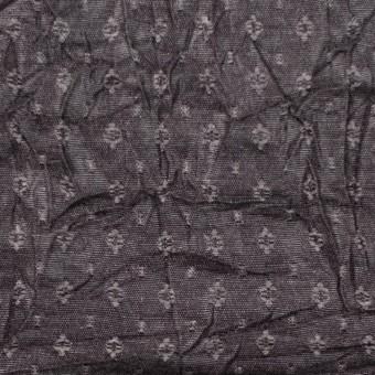 ポリエステル&トリアセテート×幾何学模様(ダークブロンズ)×ドビーワッシャー サムネイル1