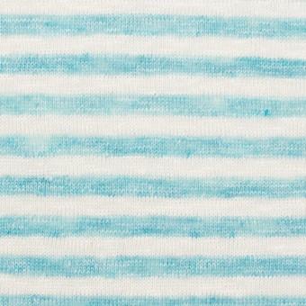 リネン×ボーダー(サックスブルー)×天竺ニット_全2色 サムネイル1