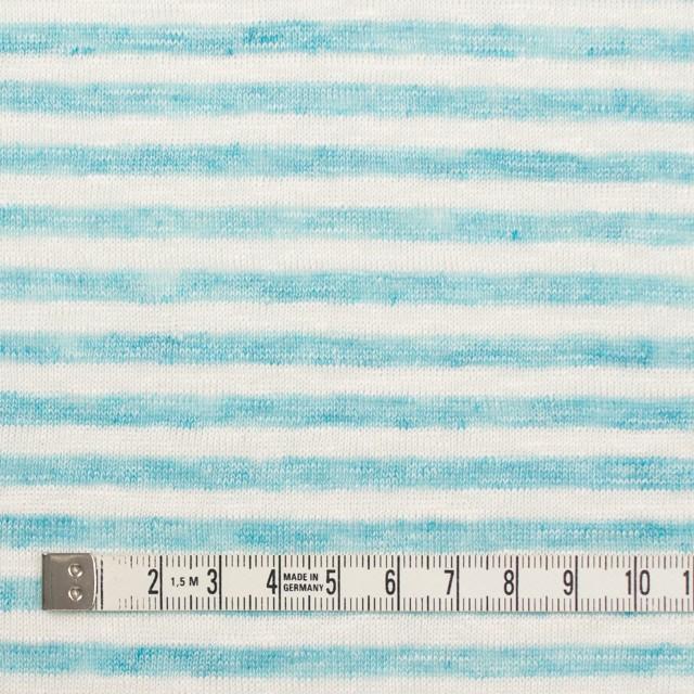 リネン×ボーダー(サックスブルー)×天竺ニット_全2色 イメージ4