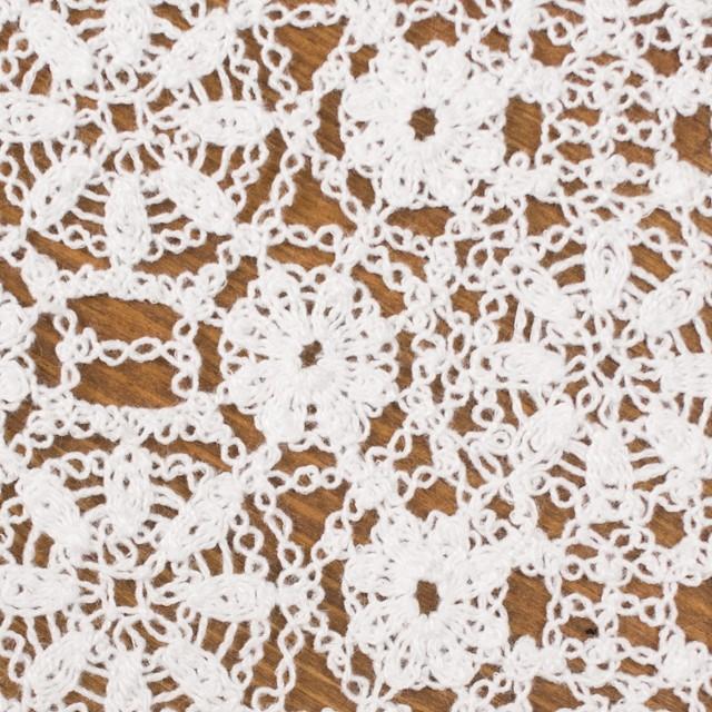 コットン×フラワー(ホワイト)×クロッシュレース_全5色 イメージ1