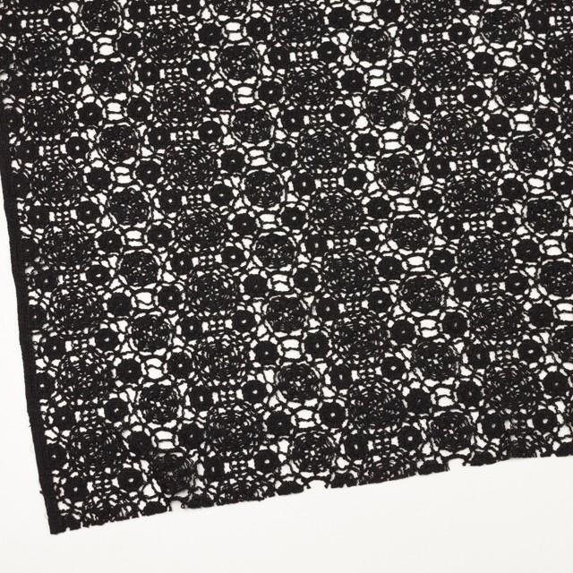 コットン×フラワー(ブラック)×クロッシュレース_全5色 イメージ2