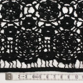 コットン×フラワー(ブラック)×クロッシュレース_全5色 サムネイル3