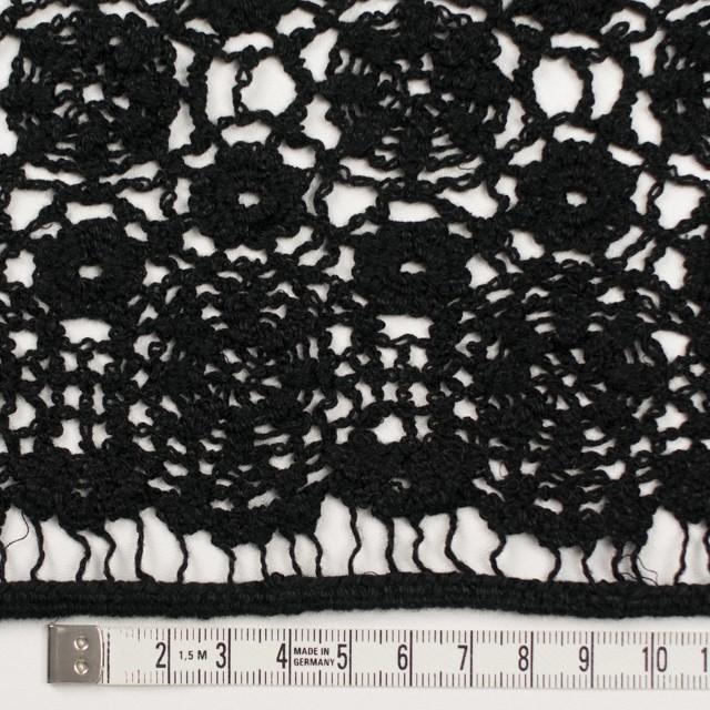 コットン×フラワー(ブラック)×クロッシュレース_全5色 イメージ3