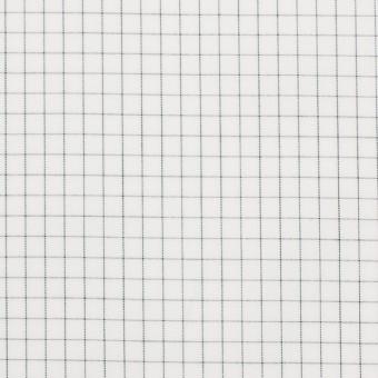 コットン×チェック(オフホワイト)×ブロード