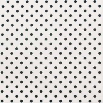 コットン×ドット(オフホワイト&ブラック)×ブロード_全3色