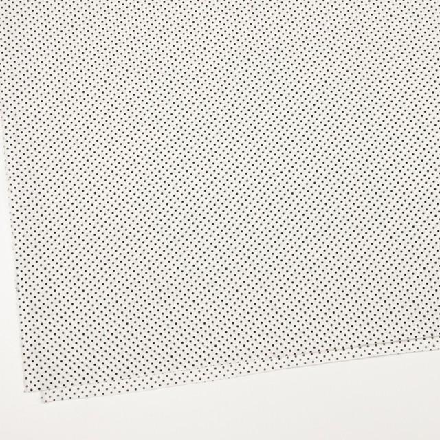コットン×ドット(オフホワイト&ブラック)×ブロード_全3色 イメージ2