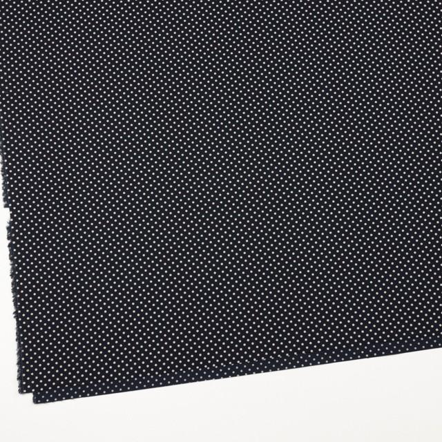 コットン×ドット(ダークネイビー&キナリ)×ブロード_全3色 イメージ2