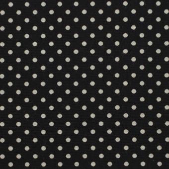 コットン×ドット(ブラック&グレイッシュベージュ)×ブロード_全3色