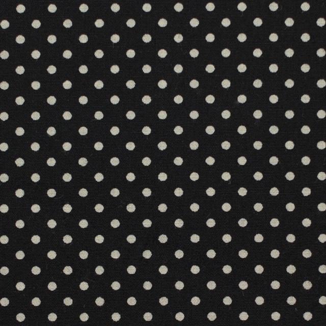 コットン×ドット(ブラック&グレイッシュベージュ)×ブロード_全3色 イメージ1