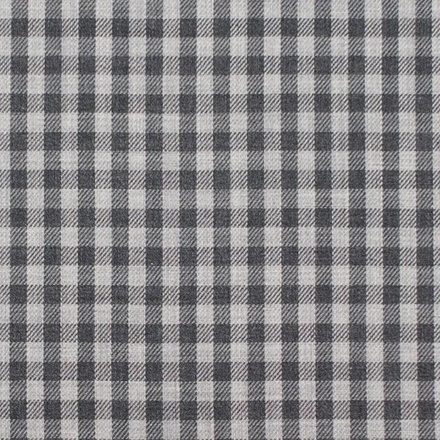 コットン×チェック(グレーミックス)×薄サージ_イングランド製 イメージ1
