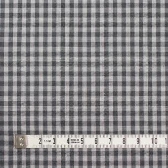 コットン×チェック(グレーミックス)×薄サージ_イングランド製 サムネイル4