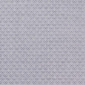 コットン×幾何学模様(シルバーグレー)×ドビー織_イタリア製