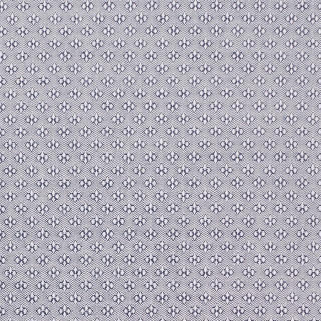 コットン×幾何学模様(シルバーグレー)×ドビー織_イタリア製 イメージ1