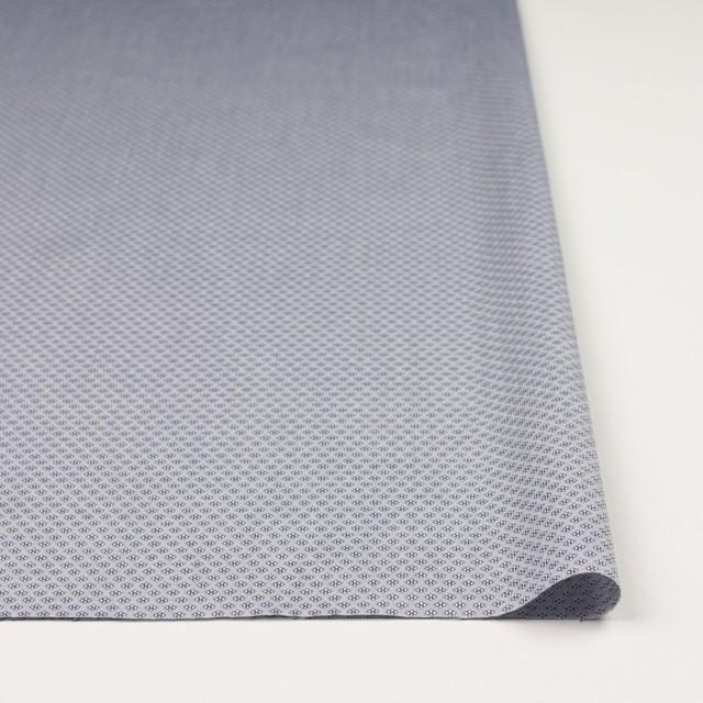 コットン×幾何学模様(シルバーグレー)×ドビー織_イタリア製 イメージ3