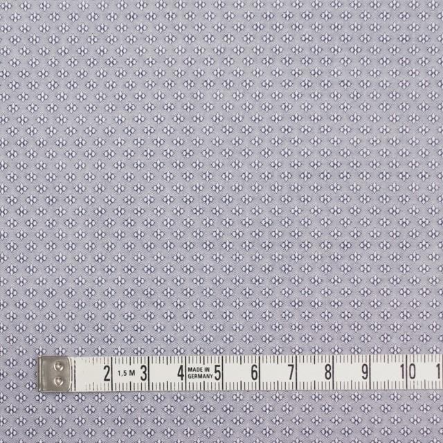 コットン×幾何学模様(シルバーグレー)×ドビー織_イタリア製 イメージ4
