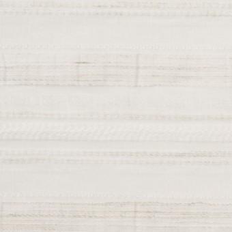ナイロン&リネン混×ボーダー(アイボリー)×オーガンジー・ジャガード_全4色