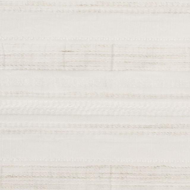 ナイロン&リネン混×ボーダー(アイボリー)×オーガンジー・ジャガード_全4色 イメージ1