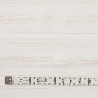 ナイロン&リネン混×ボーダー(アイボリー)×オーガンジー・ジャガード_全4色 サムネイル4