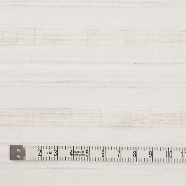 ナイロン&リネン混×ボーダー(アイボリー)×オーガンジー・ジャガード_全4色 イメージ4