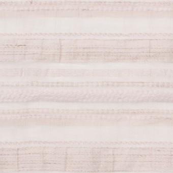 ナイロン&リネン混×ボーダー(ピンクベージュ)×オーガンジージャガード_全4色